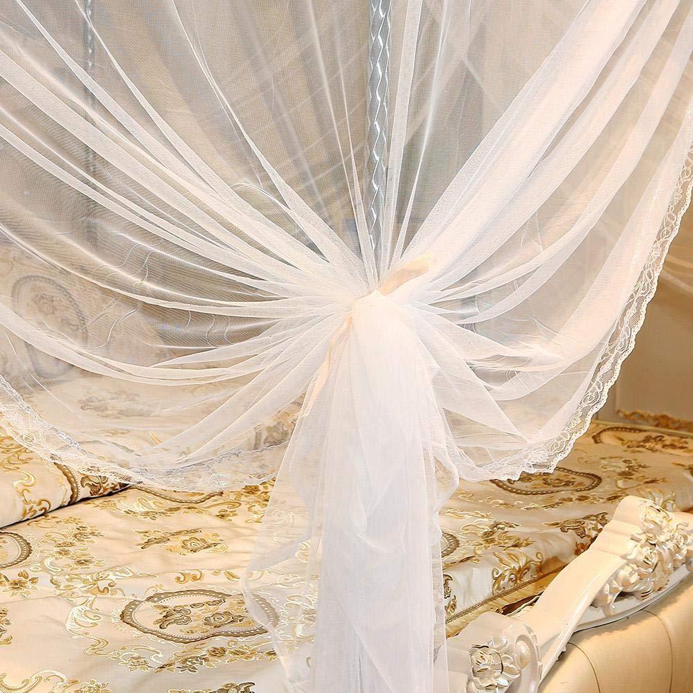 Princess Four Corner Post Elegante Cortina de Cama Pabell/ón de Malla Malla de Cama Pabell/ón de Juego Instalaci/ón f/ácil para Viajes de Dormitorio Wifehelper Luxury Mosquito Net 120 * 200 * 200cm