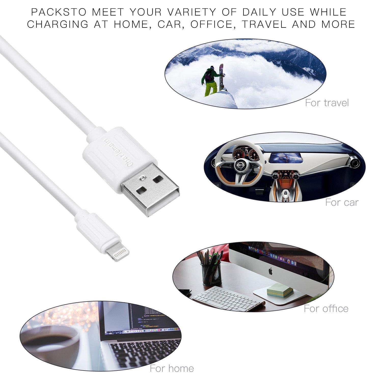 Charlemain Phone Kabel kurz, Handy Ladekabel 30cm(4 STK),Nylon USB Kabel kompatibel mit iOS System, wie Phone X XS Max XR/8/8 Plus 7/7 Plus 6/6s Plus 5/5s/5c, Pad Mini/Air usw