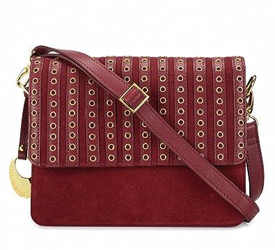 Phive Rivers Women s Leather Crossbody Bag (Red 654d68c8e6b0b