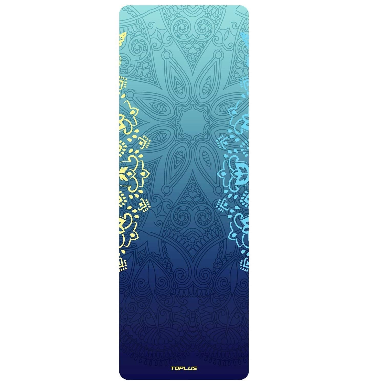 TOPLUS Yoga Mat - Luxury Designer Cooperated - Hot Yoga Mat - Sweat Absorbent Non Slip, Natural Suede Exercise & Fitness Mat for Yoga, Pilates and Floor Exercises, Coming Box