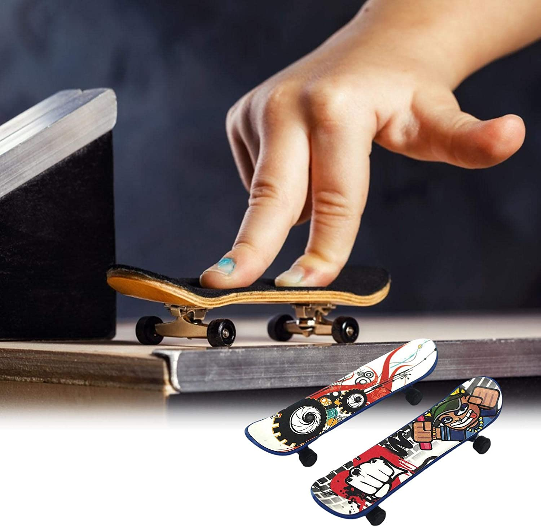 Professional Fingerboards Finger Board Toy Set Creative Fingertips Movement for Kids Mini Fingerboard Finger Skateboards Toy 2PCS