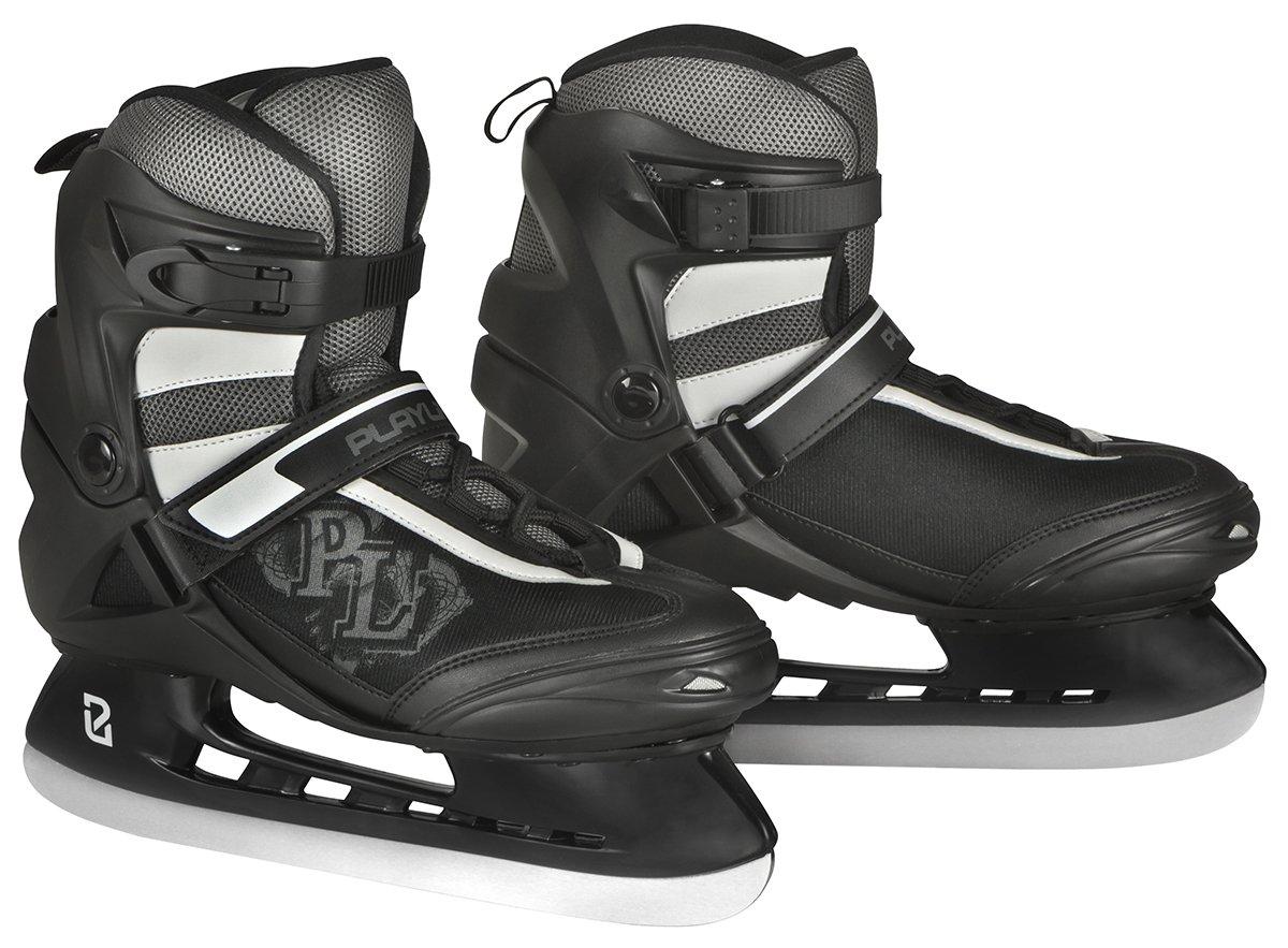 Powerslide Men's Vancouver Soft Boot Fitness Hockey Ice Skate - Black, Size 41 880090/41