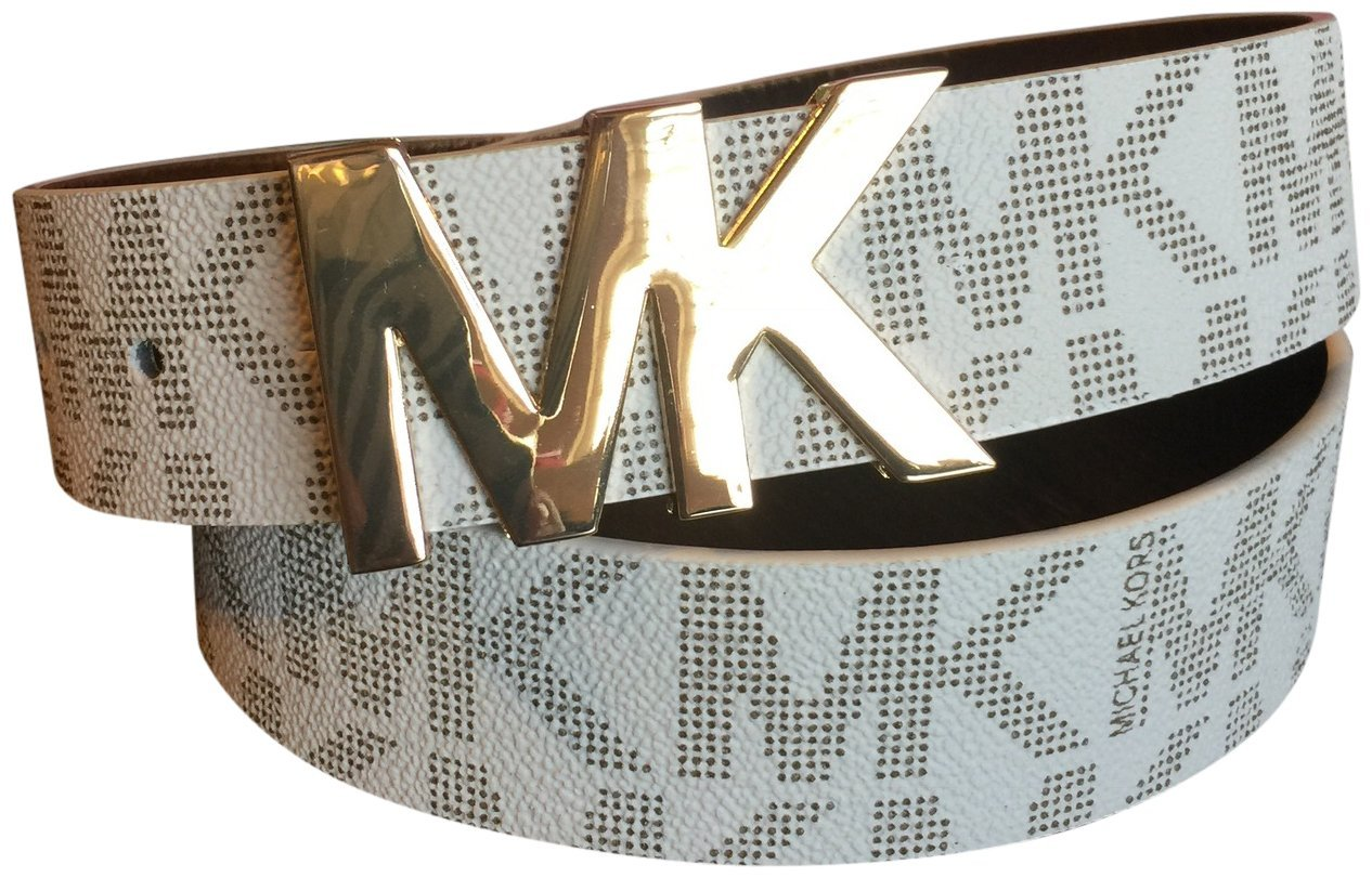 MICHAEL Michael Kors Belt with MK Logo Plaque (X-Large)
