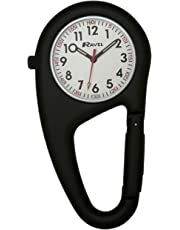 Ravel Ravel Matt Black Belt Clip Watch.Fully Secure to Fit on Your Belt or Backpack. Unisex Quartz Watch with White Dial Analogue Display and Black Stainless Steel Bangle R1105.03B