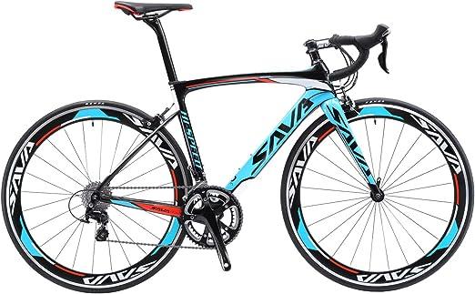 Savadeck - Bicicleta de carretera, marco de fibra de carbono Windwar5.0, 700C, bicicleta de carrera ultraligera con 22 velocidades: Amazon.es: Deportes y aire libre