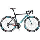SAVADECK Carbon Road Bike, Windwar5.0 Carbon Fiber Frame 700C Racing Bicycle with 105 22 Speed Groupset Ultra-Light Bicycle