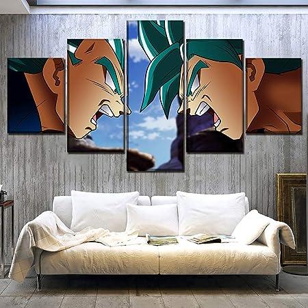 Lienzo Impreso 5 Paneles Anime Dragon Ball Super Goku y ...