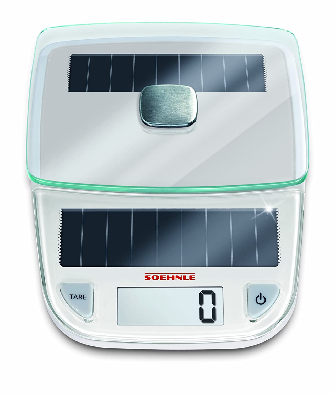 Amazon.com: Soehnle 66183 Easy Solar Kitchen Scale, White: Digital ...