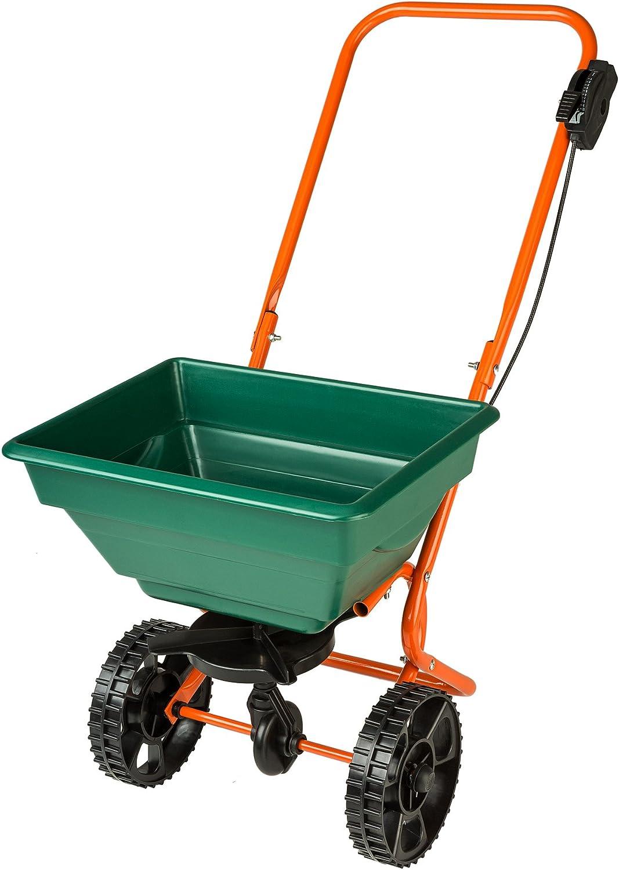 TecTake Carro esparcidor de Semillas Calle Sal y Fertilizantes 25 litros Capacidad