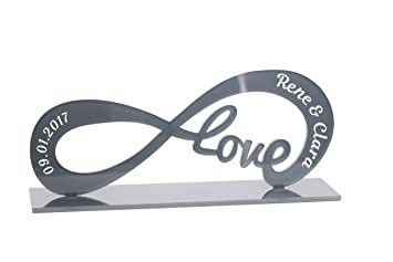 Geschenk Idee Aus Acryl Standbild Mit Gravur Deko Love  Unendlichkeitszeichen Infinity Namen Liebe Liebesbeweise Zur