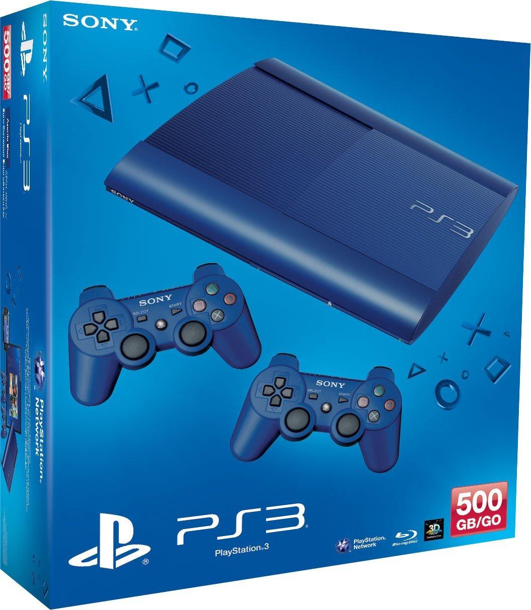 PlayStation 3 - Konsole Super Slim 500 GB weiß (inkl. 2 DualShock 3 Wireless Controller weiß)