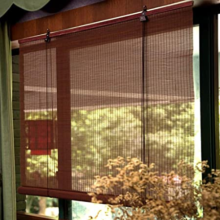 HWF Persiana Enrollable Persianas Exteriores enrollables con Ganchos, Sombra Enrollable para Exteriores para Patio terraza Porche pérgola balcón Patio Trasero, 85cm / 105cm / 125cm / 145cm Ancho: Amazon.es: Hogar