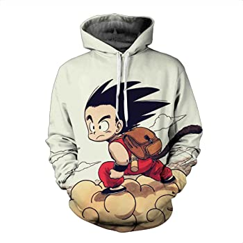 Jandz] Dragon Ball Sweats con capucha unisex, impresión 3D, dibujos de Otaku, Cosplay, Manga, dibujos animados 1. Design S/etiqueta M: Amazon.es: Ropa y accesorios