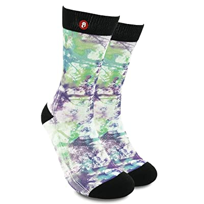 Fool's Day Luxury Combed Cotton Unique Design Artistic Painting Novelty Crew Socks