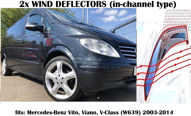 delanteros para Vito W638 1997 OMAC Deflectores de viento y lluvia juego de 2 piezas 2003