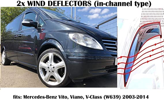 Amazon.es: OEMM Juego de 2 deflectores de viento compatibles con ...