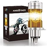 AMBOTHER LEDバルブ バイク用ヘッドライト H4・HS1 デュアル配光 Hi/Lo 冷却ファン付 IP68防水・防塵 6500K DC9V-30V 純正交換 1個