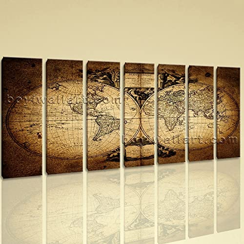 Amazon.com: Extra Large Vintage World Map Other Retro Wall Art ...