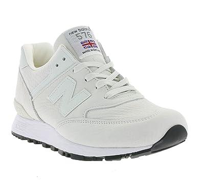 617c4d88 New Balance 576 Women's Real Leather Sneaker White W576NRW: Amazon ...