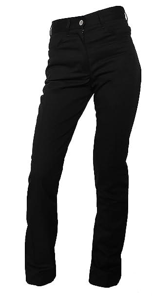 46367cfe70 Mujer - Pantalón de cocinero panadero Pantalón camarero Pantalones Jeans  Negro  Amazon.es  Ropa y accesorios