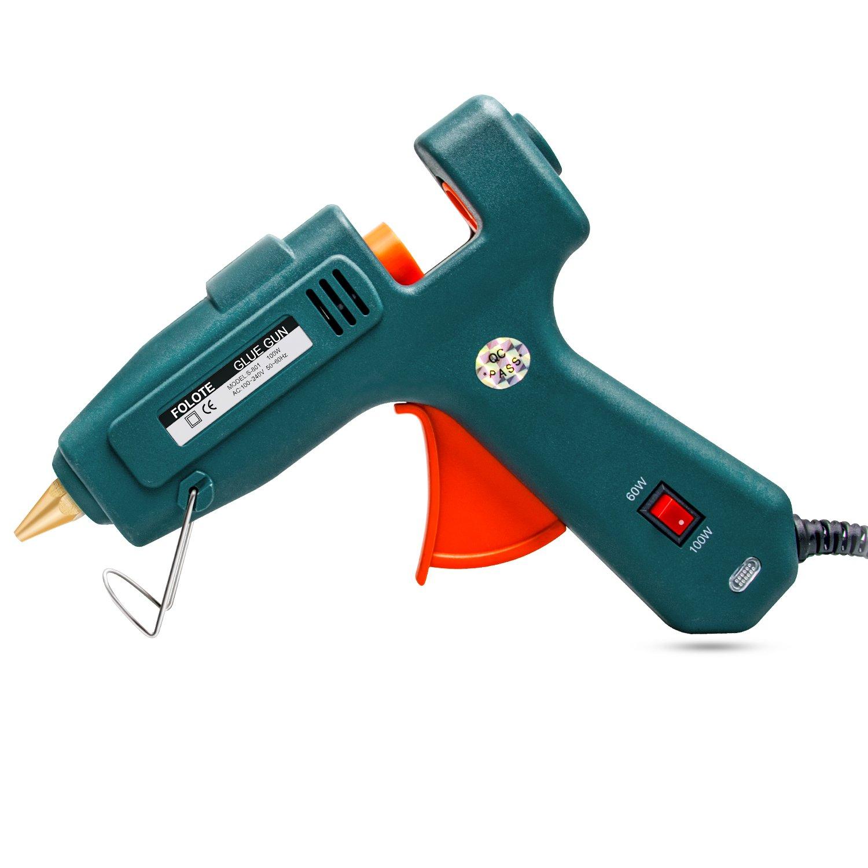 Hot Glue Gun, FOLOTE Full Size 60W/100W Glue Gun Kit, High Temperature Melting Glue Gun for DIY Arts, Crafts Use, Home Quick Repairs, Festival Decoration