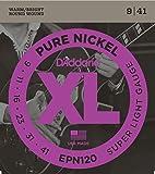 D'Addario EPN120 Pure Nickel Electric Guitar Strings, Super Light, 9-41