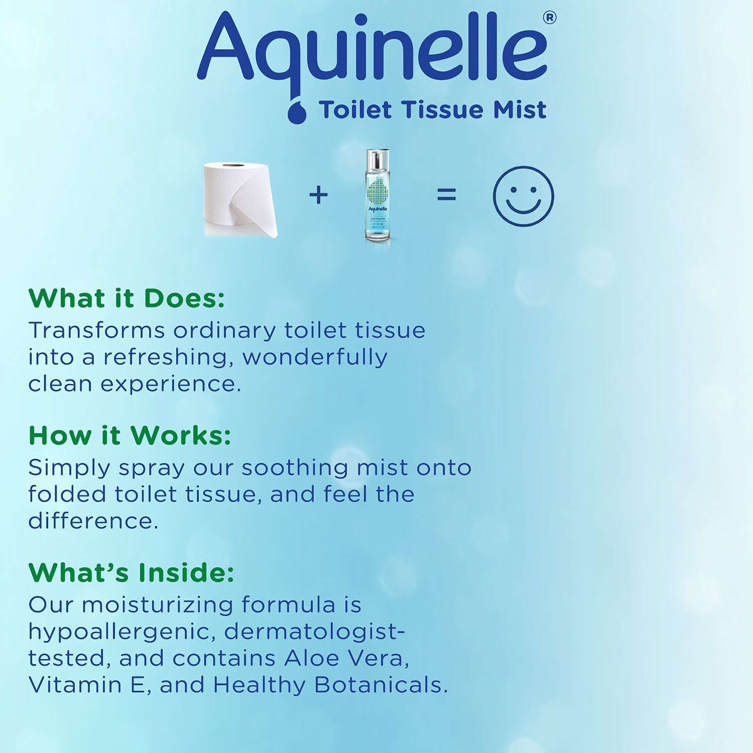 Aquinelle Toilet Tissue Mist , Eco-Friendly & Non-Clogging ...