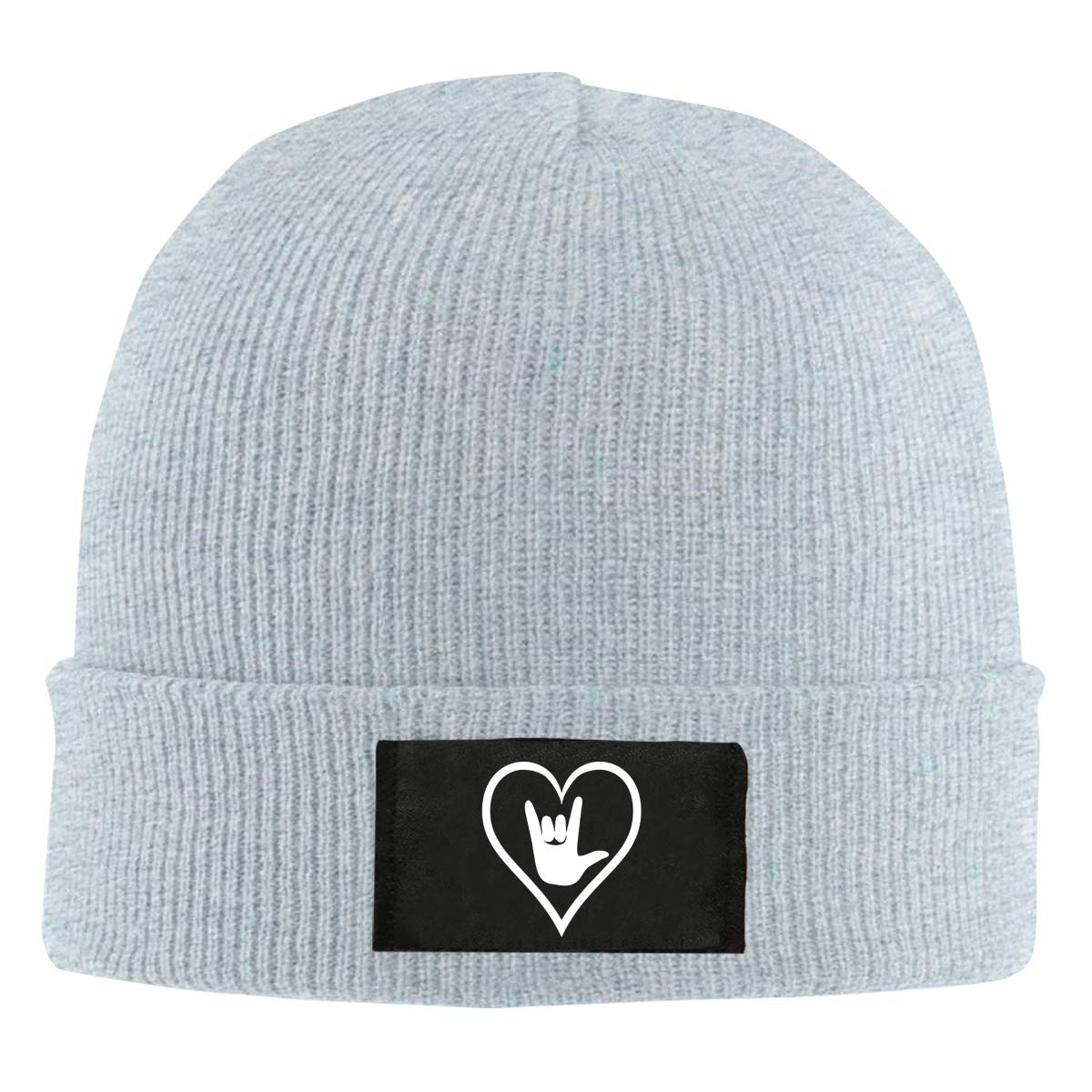 I Love You Men /& Womens Knitted Hat Fashion Warm Fleece Beanie Hat American Sign Language ASL