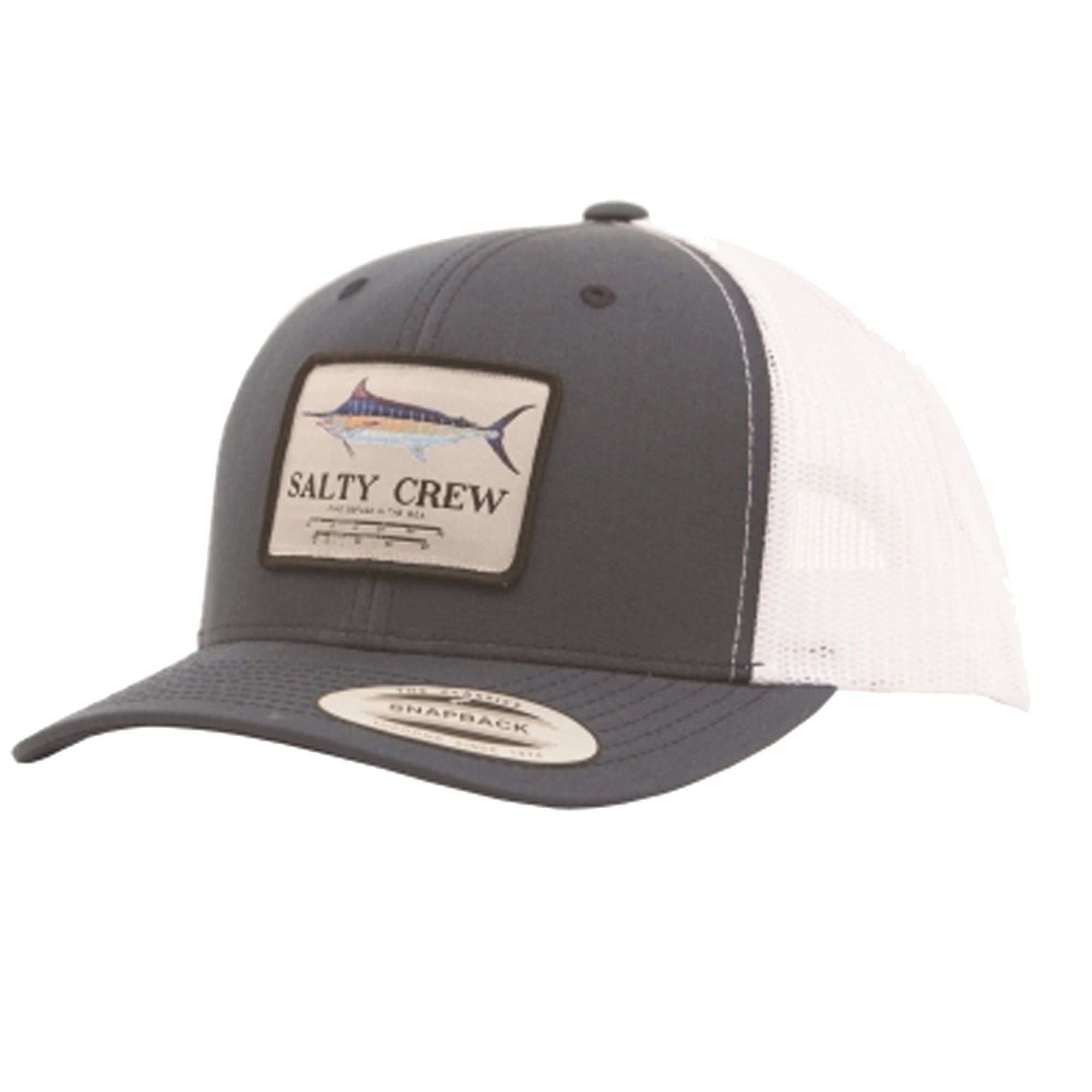 Salty Crew Men's Marlin Mount Retro Trucker Hat, Navy/White, One Size