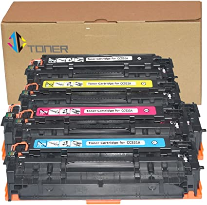 4 NEW HP 304A TONER PRINT CARTRIDGES CC530A CC531A CC532A CC533A SEALED BOXES