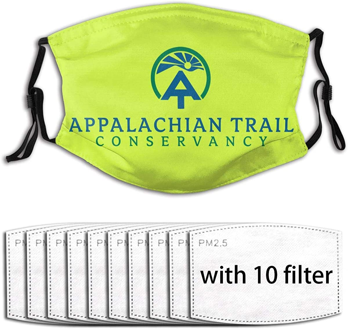 Appalachian Trail at Unisex Dustproof Mask, Comfortable Washable Reusable Funny Facemask for Outdoors