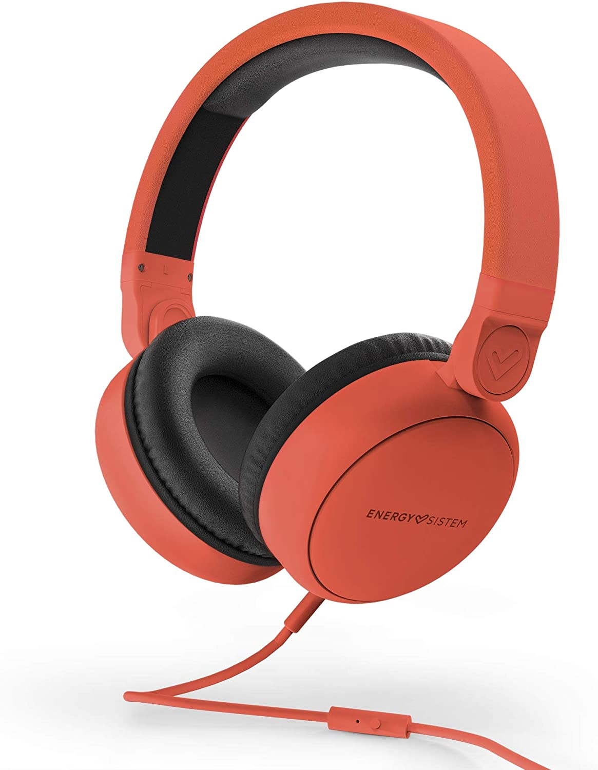 Energy Sistem Headphones Style 1 Talk Chili Red (Auriculares,Over-Ear, 180º Foldable, Detachable Cable Audio-In): Amazon.es: Electrónica