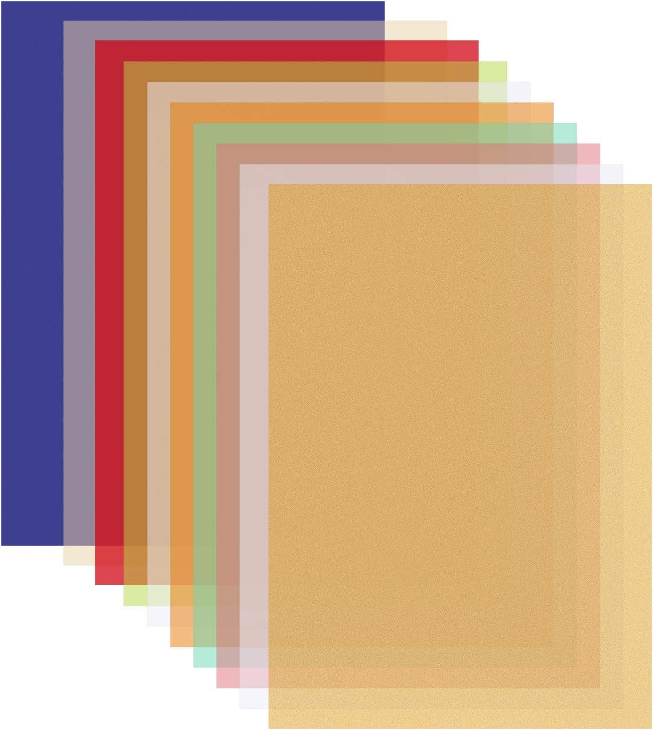 - Amazon.com: Ruisita 40 Sheets 10 Colors Vellum Paper 8.5 X 11