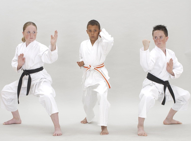 Traje de Karate & cinturón blanco Infantil - 100% algodón - color blanco - 110 cm Masuta MKS