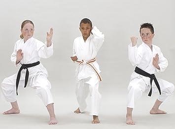 Traje de Karate & cinturón blanco Infantil - 100% algodón ...