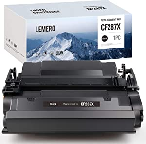 LEMERO Compatible Toner Cartridge Replacement for HP 87X CF287X 87A CF287A High Yield to use with Laserjet Enterprise M506dn M506n Laserjet Pro M501dn M501n Laserjet MFP M527dn (Black, 1-Pack)