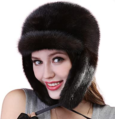 Ladies Luxury Super Warm Winter Fur Lined Hat One Size