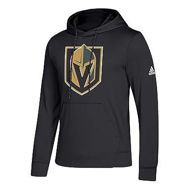 3a36ac2302b Amazon.com  adidas Las Vegas Golden Knights NHL Men s Goalie Pullover  Hooded Sweatshirt  Clothing