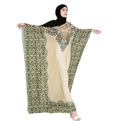 Amazon.com: fiaya musulmán Dubai caftán vestido mujer ...