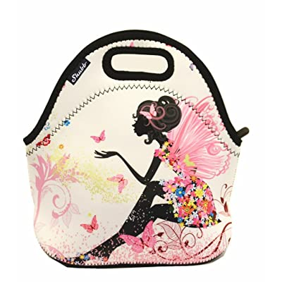 .com - Shubb Lunch Bags, Insulated Lunch Bag, Neoprene Lunch Tote Boxes for Women Men Kids Boys Girls - Pink Fairy -