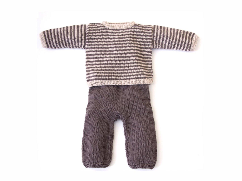 Toddler Boys' Knit Linen T-Shirt and Pants Set