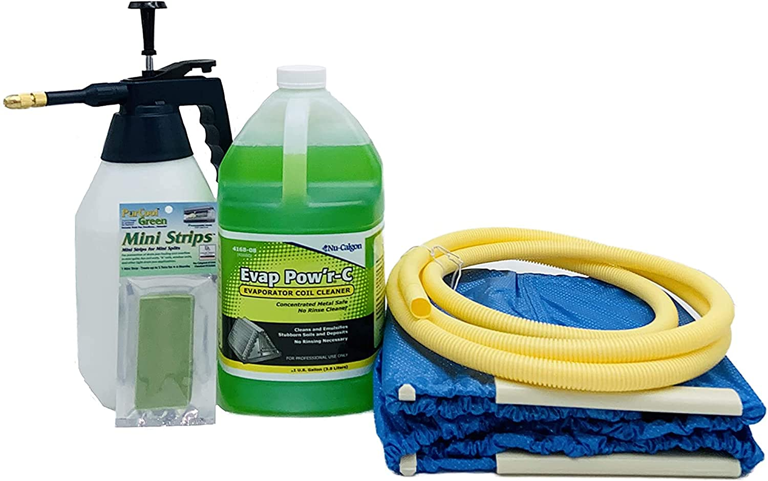 Complete Mini Split Cleaning Kit specialty Free shipping / New shop Pow'r Evap Featuring Nu-Calgon