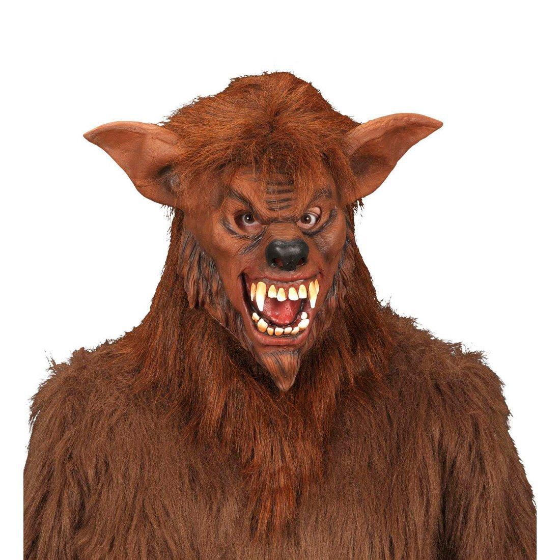 Máscara de hombre lobo felpa antifaz horror bestia halloween horror carnaval halloween: Amazon.es: Juguetes y juegos