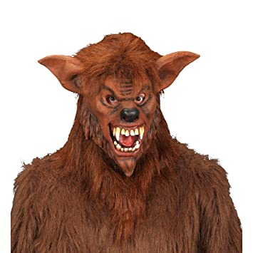 Máscara de hombre lobo felpa antifaz horror bestia halloween horror carnaval halloween
