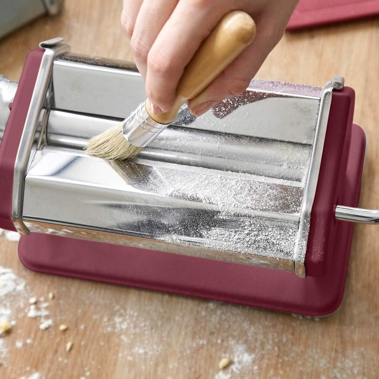 tallarines Ruby Earth M/áquina de fideos manual Nonna M/áquina para hacer pasta Acero inoxidable lasa/ña incluye secador de pasta y 3 accesorios para cortar espaguetis