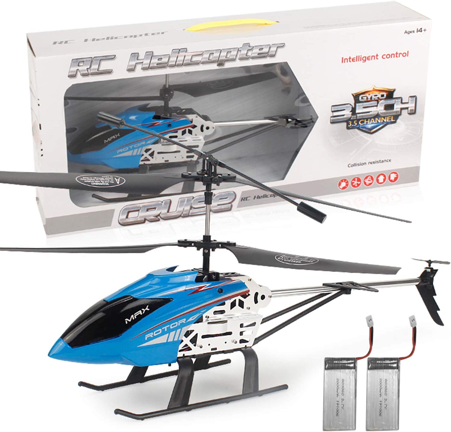 GLORY168 20Inch Large Aircraft Remote Control Helicopter with 3.5GHZ Channel Alloy Gyro Stabilizer and Multi-Protection Drone RC Helicopter Toy-Red for Kids and Adults
