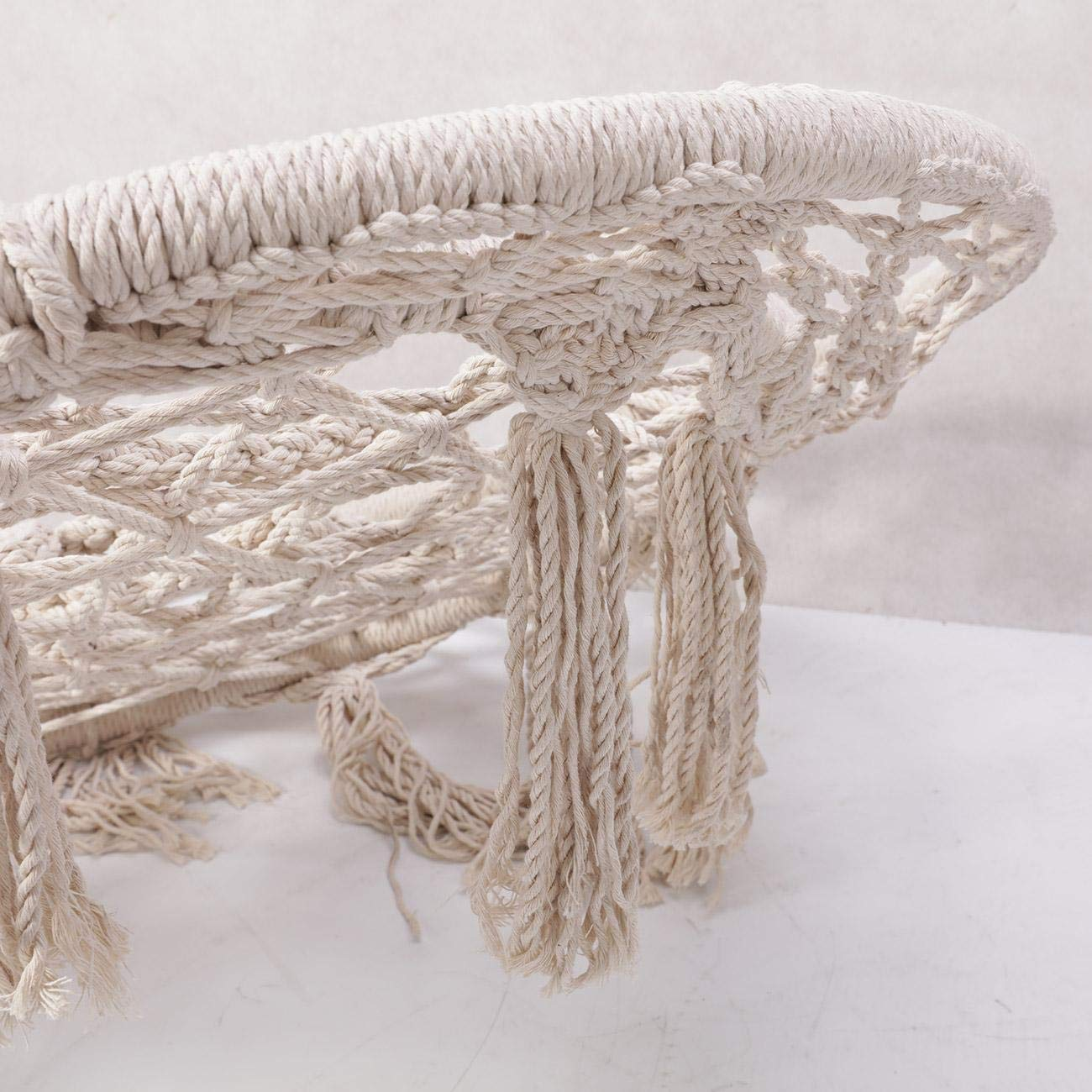 BEAMNOVA 265 lbs Capacity Hammock Chair with Hanging Hardware for Indoor Outdoor Beige by BEAMNOVA (Image #7)