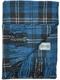 Classic Wool Blanket Throw Rug in Ramsay Blue Tartan