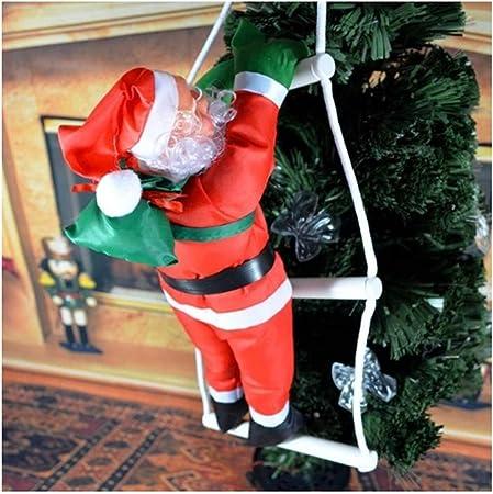 Monkey* Navidad Colgante Escalera Navidad Santa Claus Muñeca Árbol Decoración Decoración Decoración Caída Adornos: Amazon.es: Hogar