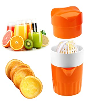 Hand Juicer Citrus Orange Squeezer Manual Lid Rotation